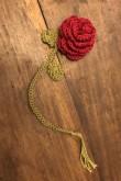 : Békebeli horgolt rózsa, könyvjelző